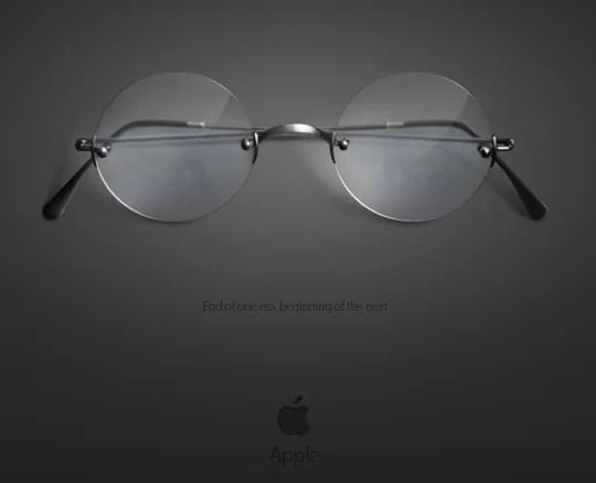 Black Apple Wallpaper Steve Jobs Wallpaper Captures His Glasses And Impact Macgasm