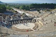 Ephesos: Mit der Hauptstraße wurde das Theater gekonnt in Szene gesetzt