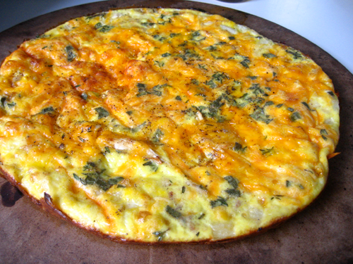 The fritatta has been freed.