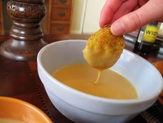 mustard-dipping