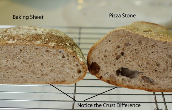 See the difference in the crust?