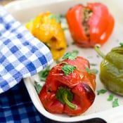 Greedy Gourmet: Bell Peppers Stuffed with Couscous