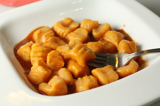 Sweet potato gnocchi in marinara