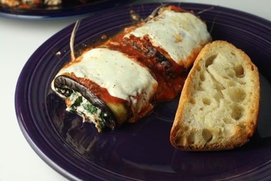 Eggplant Parmesan Rolls