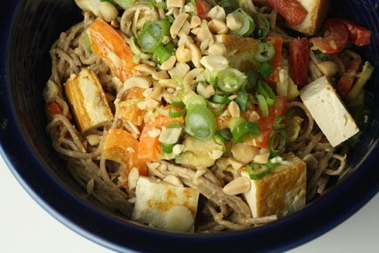 Soba Noodles with Peanut Sauce