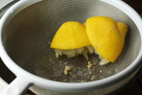 lemons juiced