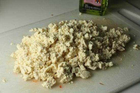 tofu crumbled