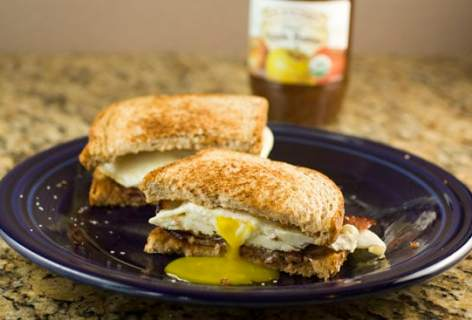 Apple Butter Breakfast Sandwich