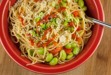 Sesame Angel Hair Pasta