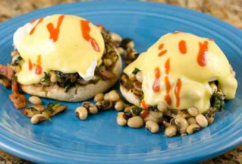 Black Eyed Pea Benedicts