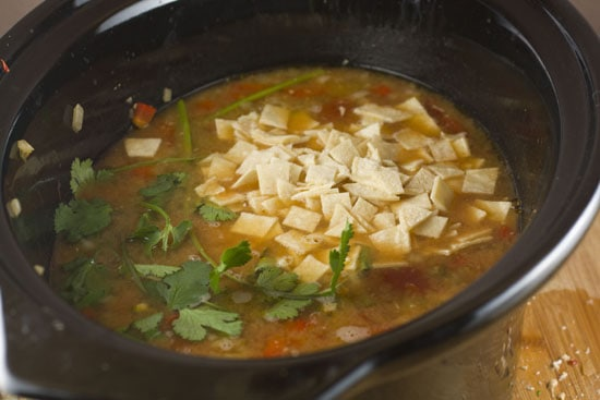 picture of Crockpot Chicken Tortilla Soup