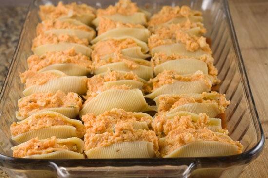 dish of Sweet Potato Stuffed Shells