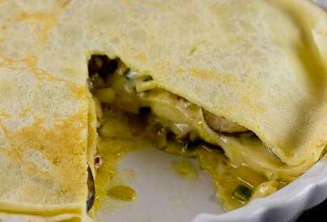 Savory Crepe Pie
