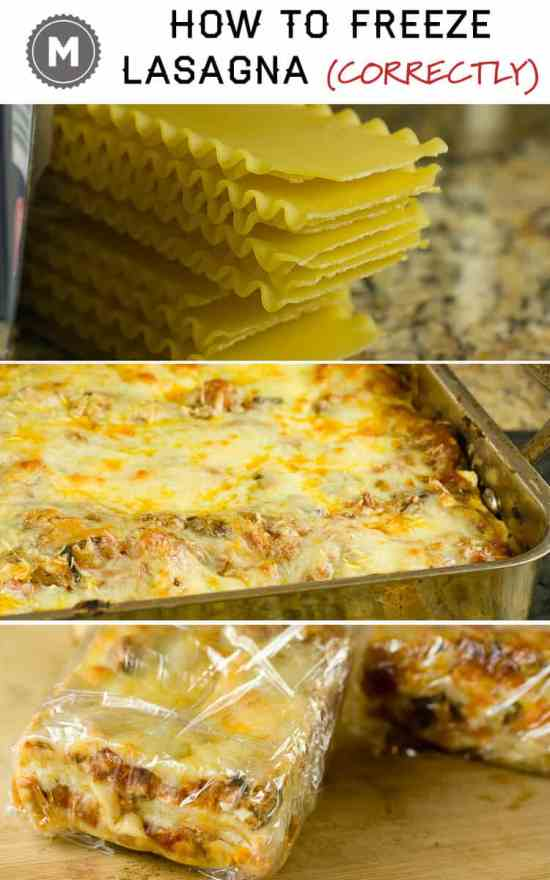 The correct and best way to freeze lasagna in individual servings! how to freeze lasagna via Macheesmo