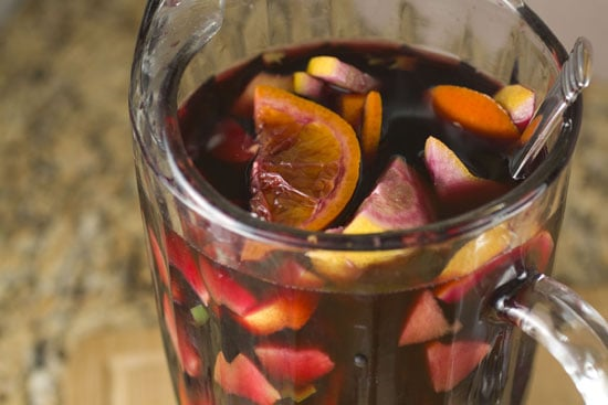 mixed pitcher of Spicy Sangria