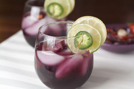 pretty glass of Spicy Sangria