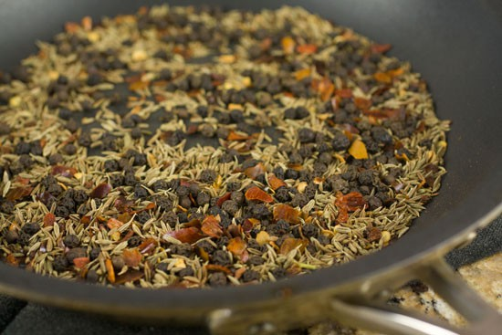 toasted spices for Homemade Taco Seasoning