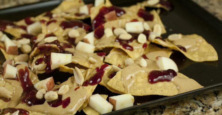 Peanut Butter and Jelly Nachos