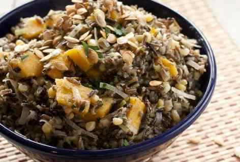 Wild Rice and Acorn Squash Salad