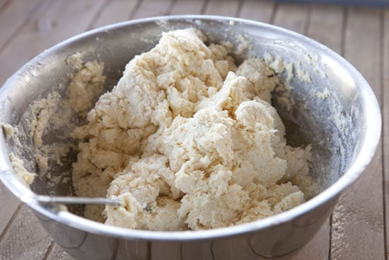 mixed dough for Blue Cheese Biscuits