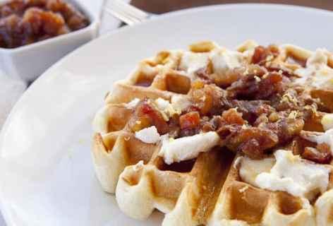 Ricotta Date Waffles