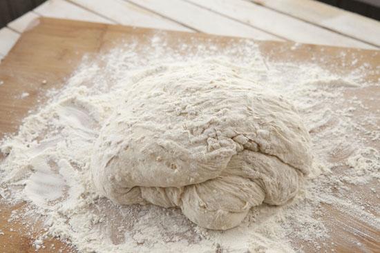 folded Oat No Knead Bread