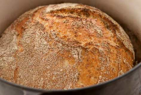 Oat No Knead Bread