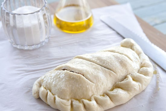 ready to bake - Sausage and Chard Calzones
