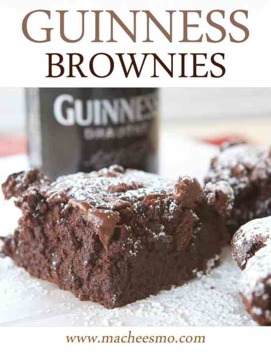 Guinness Brownies: Decadent and gooey with three chocolate ingredients and rich Guinness stout!