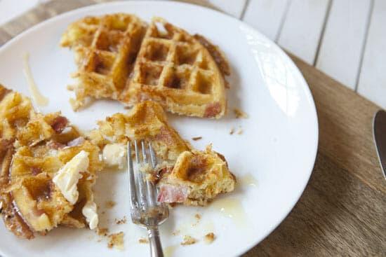 CHOMP - Ham and Cheese Waffles