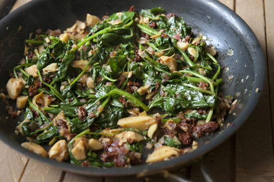 Wilted Spinach Orzo