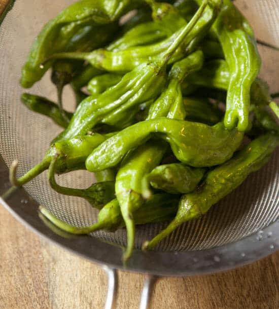 shishito peppers - Charred Shishito Peppers
