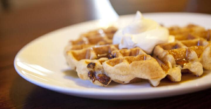 Candied Pecan Waffles