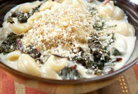 Shells and Chard Stovetop Macaroni and Cheese