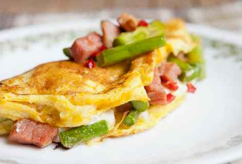 Goat Cheese Asparagus Omelette