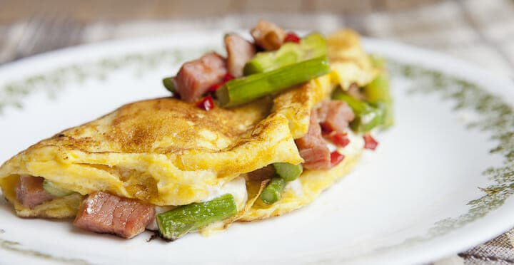 Goat Cheese Asparagus Omelette