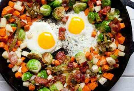 Brussel Sprout Hash on Macheesmo