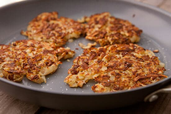 Hash browns done.