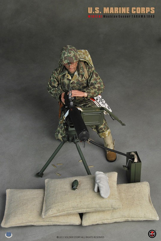 USMC M1917A1 Machine Gunner Tarawa 1943 SOLDIER STORY - Machinegun
