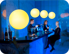 Moonlight : Lampes + Enceintes Design Globe