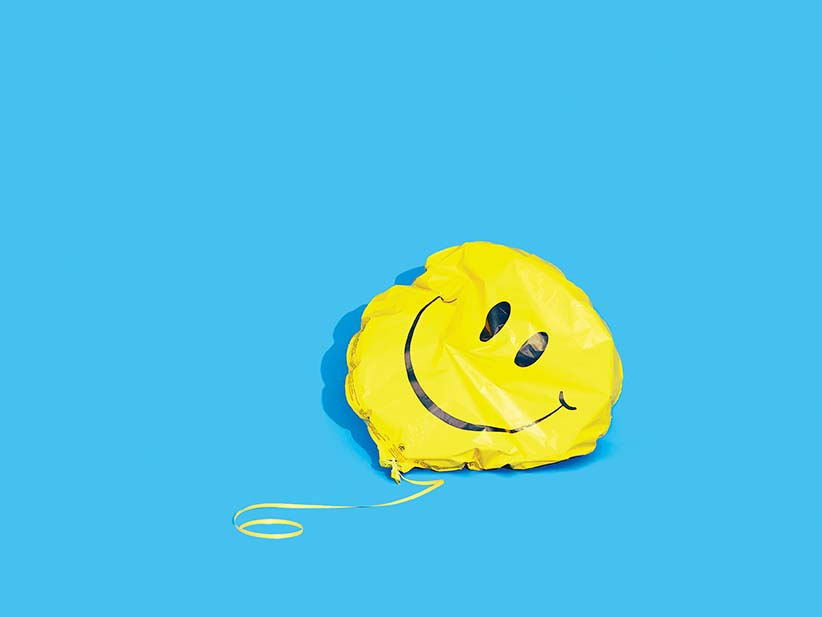 Time Wallpaper Quotes Deflated Smiley Face Balloon Photograph By Daniel