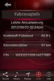 iPhone-App von Mercedes