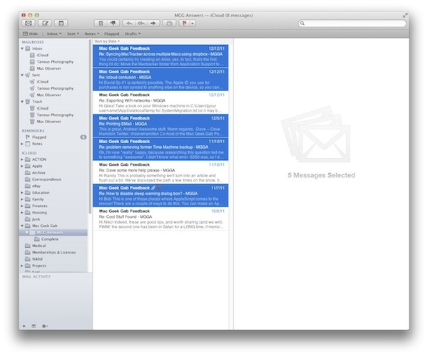Printing Multiple Emails at Once in OS X Mail \u2013 The Mac Observer