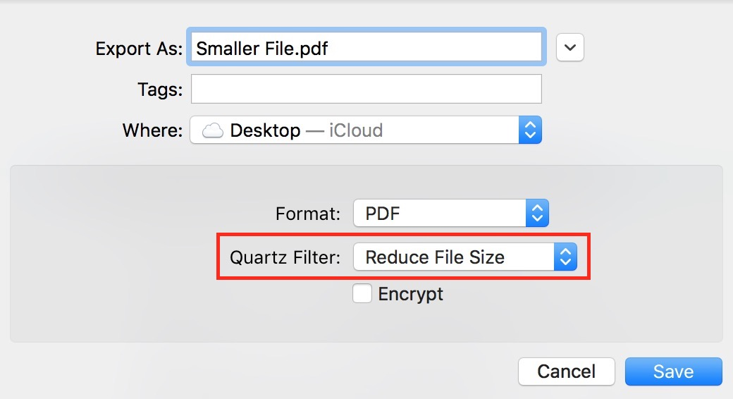 macOS Reduce PDF File Size in Preview - The Mac Observer
