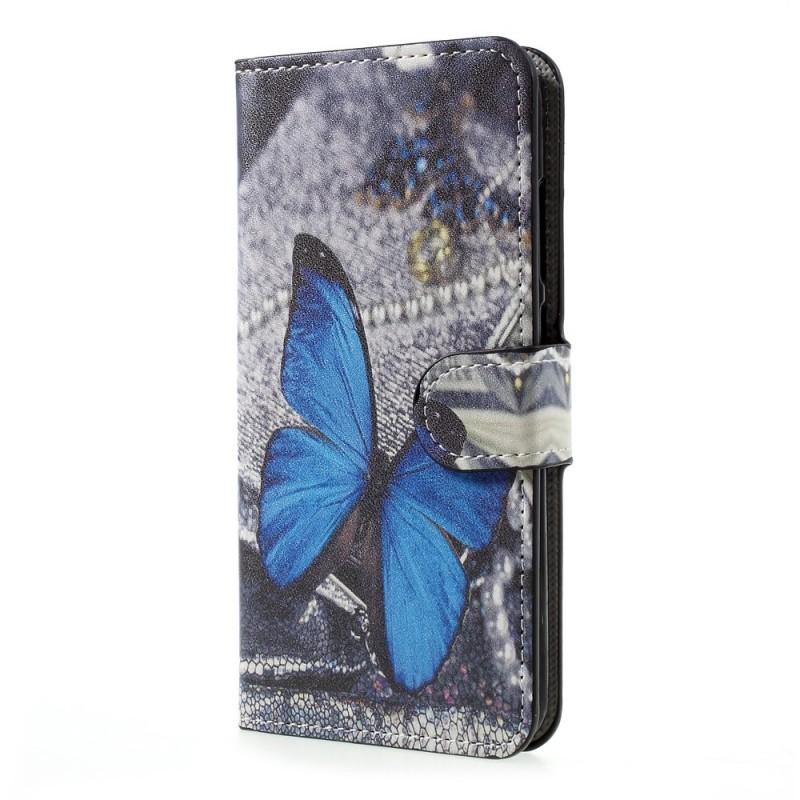 Housse Huawei P10 Lite Papillon Bleu