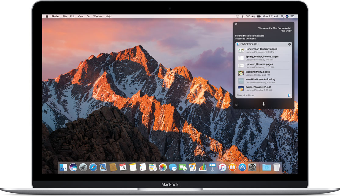 Apple macOS Sierra now available as a free update