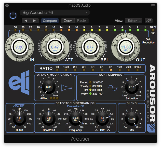 Empirical Labs plugin Arousor celebrates 20 years of Distressor