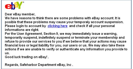 eBay Phishing Scam