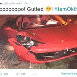 Sam Tricket Crashed Ferrari