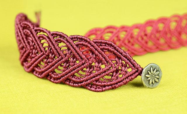 Macrame Heart Bracelet Tutorial